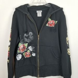 Disney Parks Mickey Mouse XL Rose Tattoo Hoodie